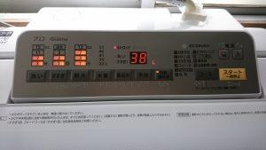 パナソニック 洗濯機『泡洗浄』水量の表示