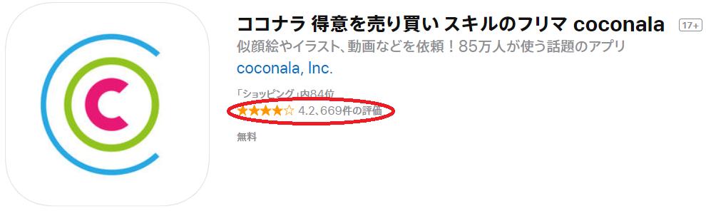 ココナラ アプリ評価